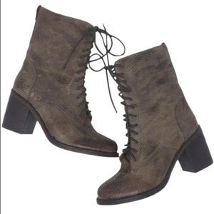 Jeffrey Campbell Lace Up Boots Heels Brown 8